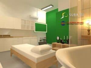 Desain ruang spa lantai 1 sukabumi