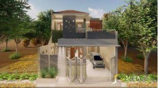 Eksterior rumah tinggal modern minimalist
